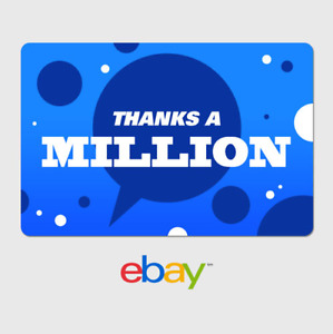 eBay Digital Gift Card - Thank You - Thanks a Million -  Email Delivery