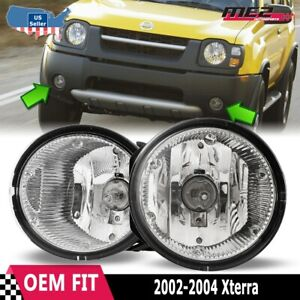 For Nissan Xterra 02-04 Factory Bumper Replacement Fit Fog Lights Clear Lens