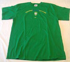 Nwot Vintage Nike Team Brasil Shirt Size Xl Confederaco Futebol Green Soccer