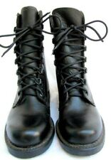 Vtg 70S / 80S.Black.Leather.Combat / Work.Goth.Boots.New Old Stock.6M/ 8W