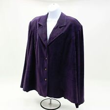 NEW Cato Women's Plus 26W Purple/Violet Long Sleeve Button-up Shirt Top Blouse
