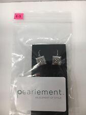 FIREFLY Multicolor Mosaic Square Drop Earrings - Clear Silver (E13 & E14)