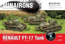 Minairons 1:72 Renault FT-17 (3 tanks) - 20mm WWI, Spanish Civil War, WWII
