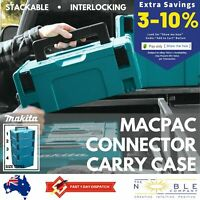 Makita Makpac Connector Job Site Plastic Tool Box Storage Power Tools Organizer