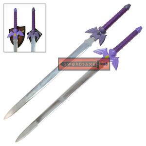 Link True Master Sword Legend of Zelda Purple Hilt Steel Sword Set of 2 Cosplay