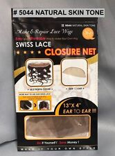 "QFITT MAKE & REPAIR LACE WIG SWISS LACE CLOSURE NET 13"" X4"" EAR TO EAR #5044"