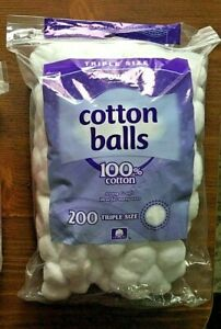 Triple Size Cotton Balls LUXURIOUSLY SOFT Made from 100% pure natural cotton 200