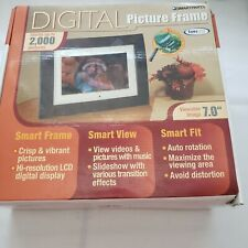 NEW Smartparts Digital Picture Frame 7 inch LCD Display. OPEN TO TAKE PICTURES