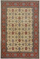 Geometric Super Kazak All-Over Hand-Knotted Oriental Area Rug Wool 9x13 Carpet