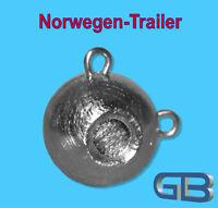 Norwegen-Trailer, 240g - 280g, Sea Trailer, Kugelblei mit Öse, Jigkopf, Rundkopf