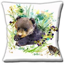 Bear Cub Housse de coussin artistique moderne Grive Musicienne 16 in (environ 40.64 cm) 40 cm