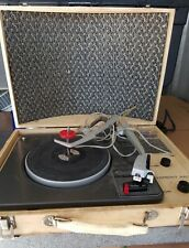 RARE Vintage Garrard AT6 Turntable Portable Record Player Symphony Works