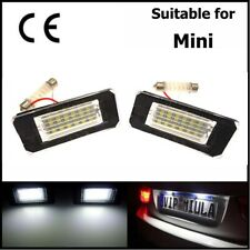 2x LED NUMBER PLATE LIGHT Lamps For BMW Mini Cooper R55 R56 R57 R58 Error Free