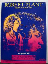 Robert Plant Original Manic Nirvana Tour Concert Poster 18x13 Irvine Meadows CA