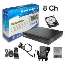 Sunvision 8Ch Surveillance CCTV D1 / CIF H.264 Cloud Based DVR + 500GB HDD