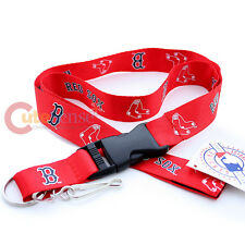 Boston Red Sox  Lanyard MLB Key Chain ID Ticket Holder - Red