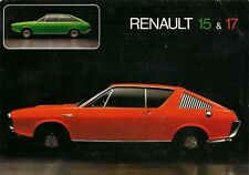 Renault 15 & 17 Specification 1972-73 UK Market Foldout Brochure TL TS