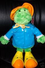 Gund Raingear Quibbet 36186 Plush Green Frog With Raingear Nwt