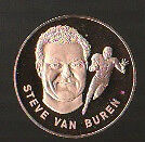 1972 FRANKLIN MINT SOLID BRONZE COIN STEVE VAN BUREN PHILADELPHIA EAGLES 1.5