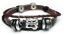 Neu LEDERARMBAND Armband ECHT LEDER Tibet / Surfer Armband UNISEX braun