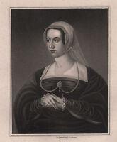 1829 GEORGIAN PRINT ~ QUEEN CATHARINE PAR