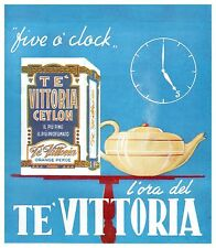 PUBBLICITA' 1954 TE' VITTORIA CEYLON TEIERA ORANGE PEKOE THE ARREDAMENTO BAR PUB