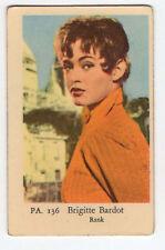 1960s Swedish Film Star Card Star PA Set #136 French Sex Symbol Brigitte Bardot