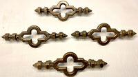 Lot of 4 Vintage Celtic Cross Cabinet Drawer Pulls Steampunk Antique Brass