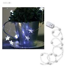 "MICRO LED Batterie Guirlande lumineuse "" String "" 12 blanc étoiles Alimentation"