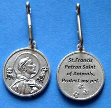 St. FRANCIS PET MEDAL - PROTECT YOUR PET - DOG or CAT MEDAL w/snap rng