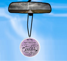 MAY YOU NEVER DRIVE FASTER THANK YOUR ANGEL CAN FLY CAR REARVIEW MIRROR ORNAMENT