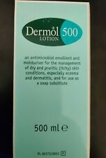 Dermol 500 / Lotion to dry skin/ use as soap substitute/ cleanser in the bath.
