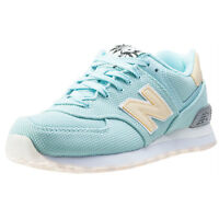 New Balance 574 Classic Running Womens Green Mesh Casual Trainers Lace-up