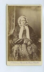Woman In Crinoline Dress & Bonnet c1870s CdV Photo Valentine Dundee Scotland