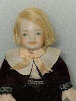 "1:12 Scale Porcelain 3"" Child Doll Dollhouse Miniature Doll"
