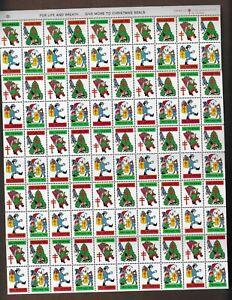USA STAMPS- Christmas seal stamps  1974, complete sheet of 100     MNH**
