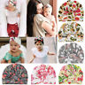 Girls Floral Print Kids Baby Turban Cute Baby Cap Knotted Headband Beanie Hat