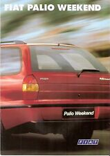 Prospekt / Brochure Fiat Palio Weekend 1998