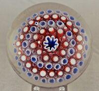 BEAUTIFUL Magnum ANTIQUE Old ENGLISH Millefiori Art GLASS Paperweight RICHARDSON