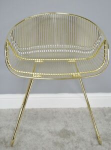 Tate Chair by The Quaint House -Metal, Gold