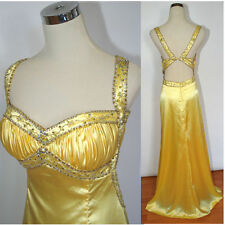 Windsor $200 Yellow Evening Prom Formal Cruise Dress Full Length Long size 8 NEW