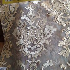 """Embroiderd Organza Lace In Rich Ivory Color Jacquard Designe 108"""" 13 Yards"""