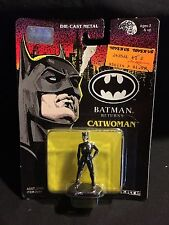 1991 ERTL BATMAN RETURNS CATWOMAN DIE CAST METAL FIGURE MOC UNOPENED