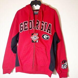 Georgia Bulldogs Colosseum Red Fleece-lined Sweatshirt Hoodie Size Small  NWT