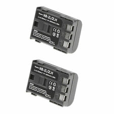 2 X NB-2LH Battery for Canon EOS 400D, 350D, G9, G7, S80, S70, Rebel XTi 1800mAh