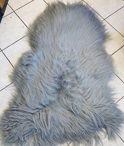 Island Sheepskin Armchair Sofa fur Carpet Interior Design Deco 53 1/8x31