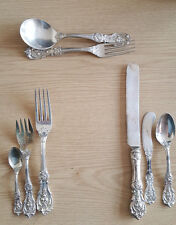 8 piece setting of Reed Barton Francis 1 silver flatware 415 grams total