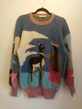 Peru Wool Chunky Knit Jumper One Size 10 12 14 16 Peruvian Knitted Sweater Top