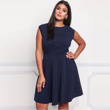 Sexy Women Plus Size Dress Evening Cocktail Casual High Waist Skirt Sleeveless