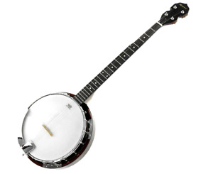 Karrera 5 String Resonator Banjo - Brown